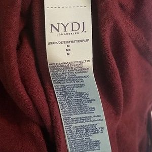 NYDJ Tops - NYDJ Deep Currant + Faux Leather Trim Size Med